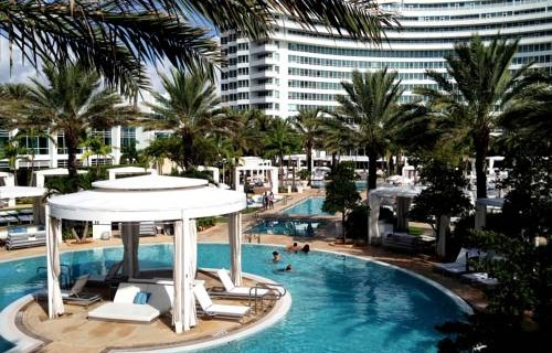Fontainebleau Beachfront Resort Miami Beach  Pool Cabanas